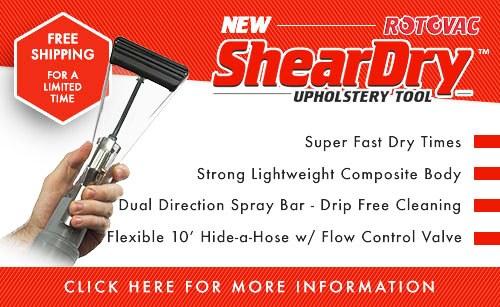 Rotovac Sheardry upholstery cleaning tool