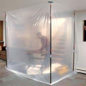 Zip wall containment barrier kit